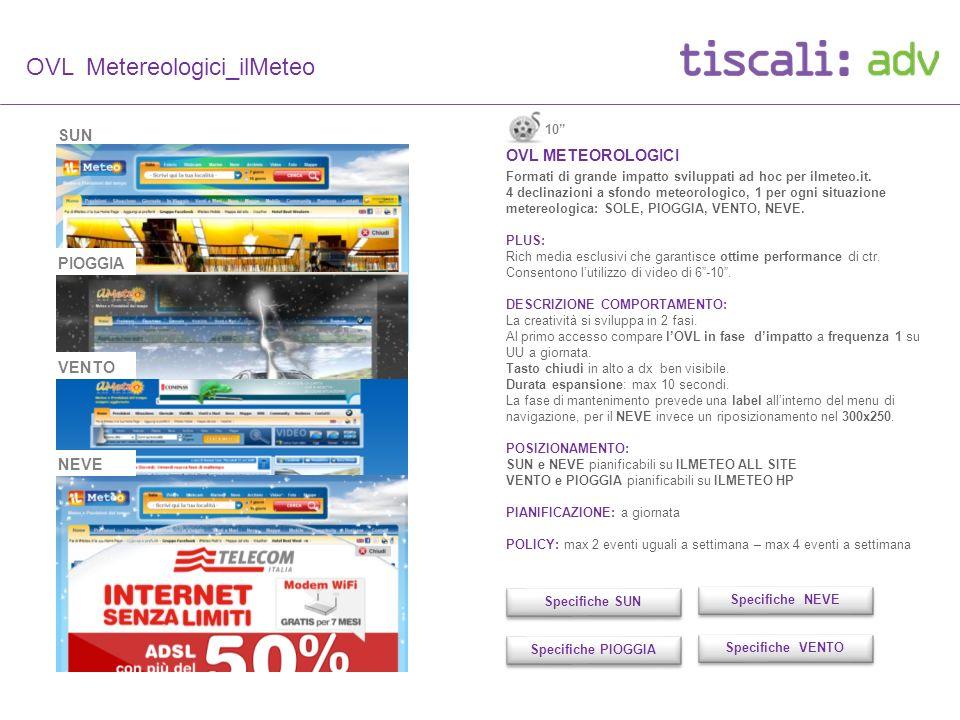 OVL Metereologici_ilMeteo OVL METEOROLOGICI Formati di grande impatto sviluppati ad hoc per ilmeteo.it.
