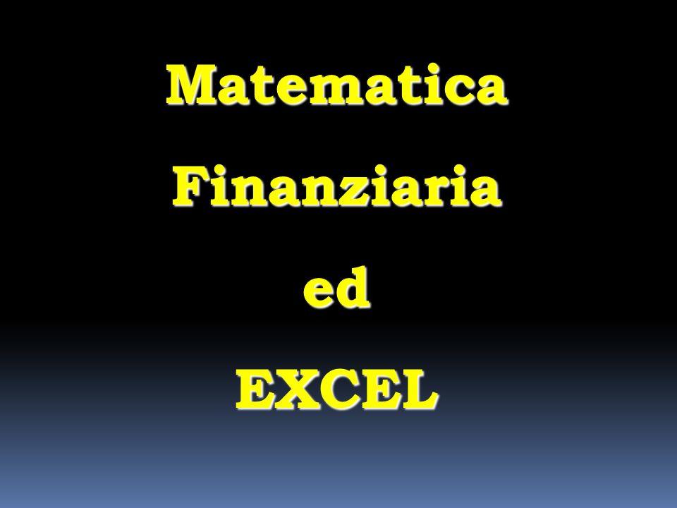 Un progetto prevede oggi le seguenti entrate annue 012 592054207470 3645 624097706720 7 calcolare usando Excel il valore attuale dei flussi di cassa, assumendo un tasso di valutazione del 9% 10370 Esercizio