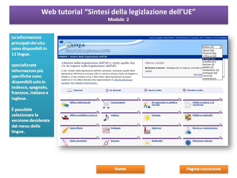 Le informazioni principali del sito sono disponibili in 11 lingue.