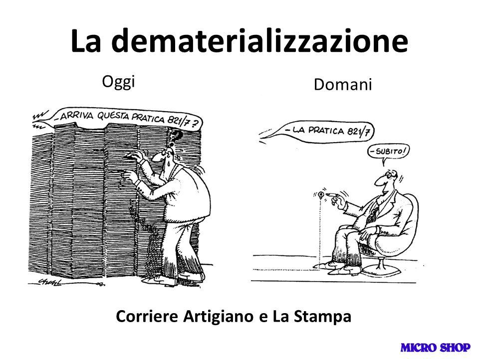 La dematerializzazione Oggi Domani Corriere Artigiano e La Stampa