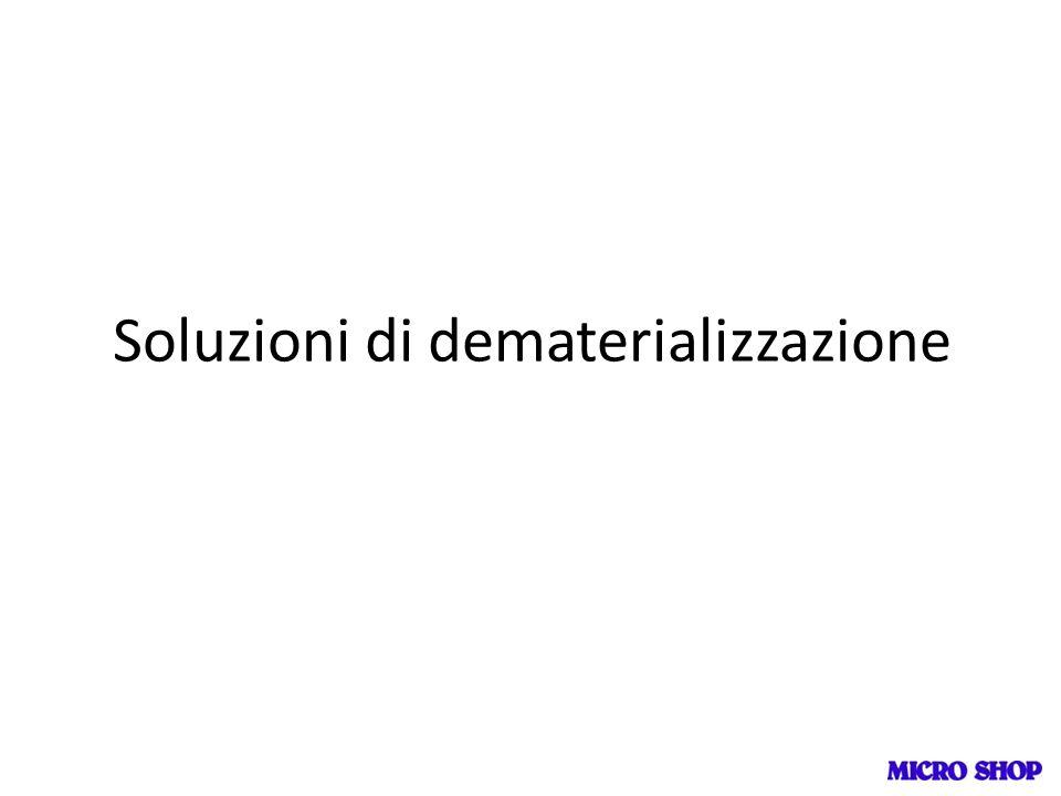 Soluzioni di dematerializzazione