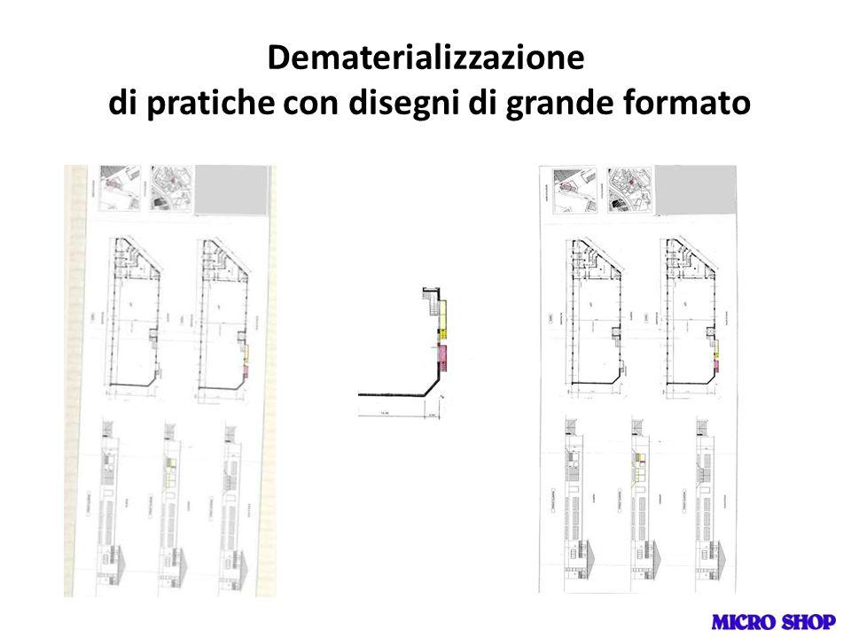 Dematerializzazione di pratiche con disegni di grande formato