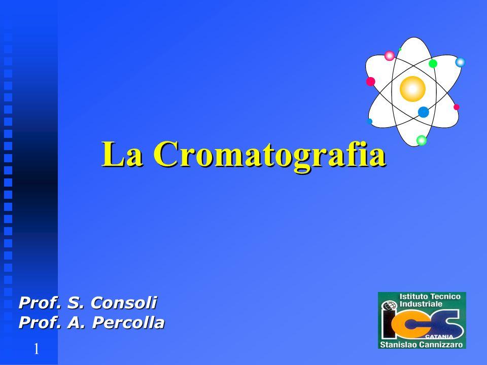 1 La Cromatografia Prof. S. Consoli Prof. A. Percolla