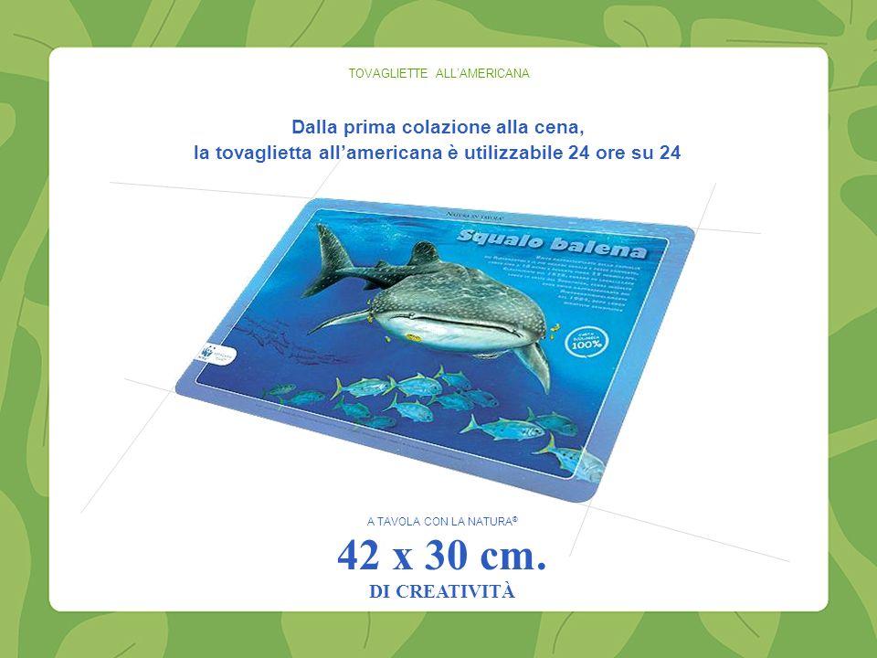 TOVAGLIETTE ALLAMERICANA A TAVOLA CON LA NATURA ® 42 x 30 cm.