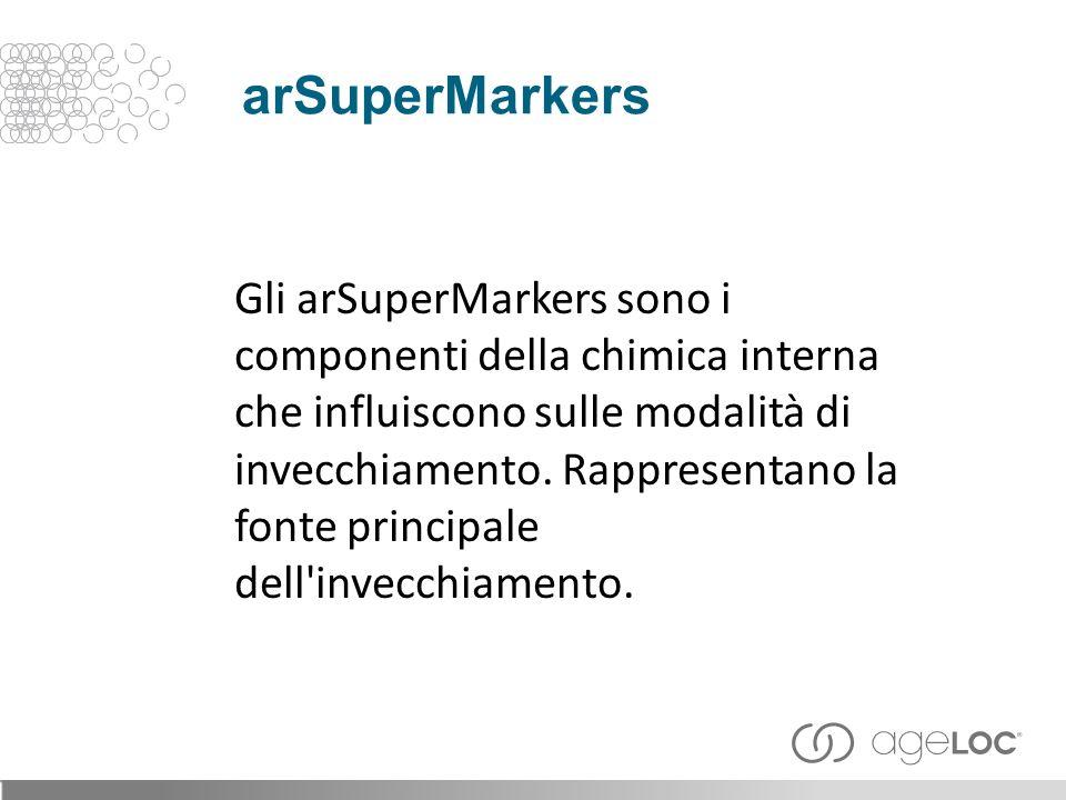 Gli arSuperMarkers sono i componenti della chimica interna che influiscono sulle modalità di invecchiamento.