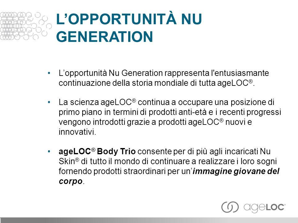 ageLOC ® BODY TRIO Lopportunità Nu Generation sostenuta da scienza e prodotti