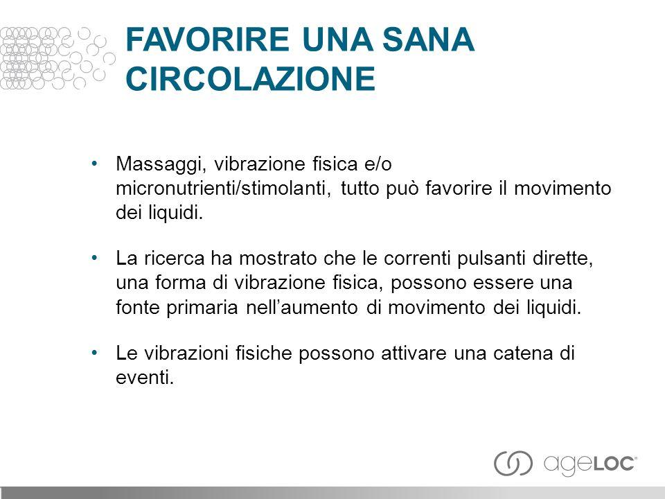 Massaggi, vibrazione fisica e/o micronutrienti/stimolanti, tutto può favorire il movimento dei liquidi.