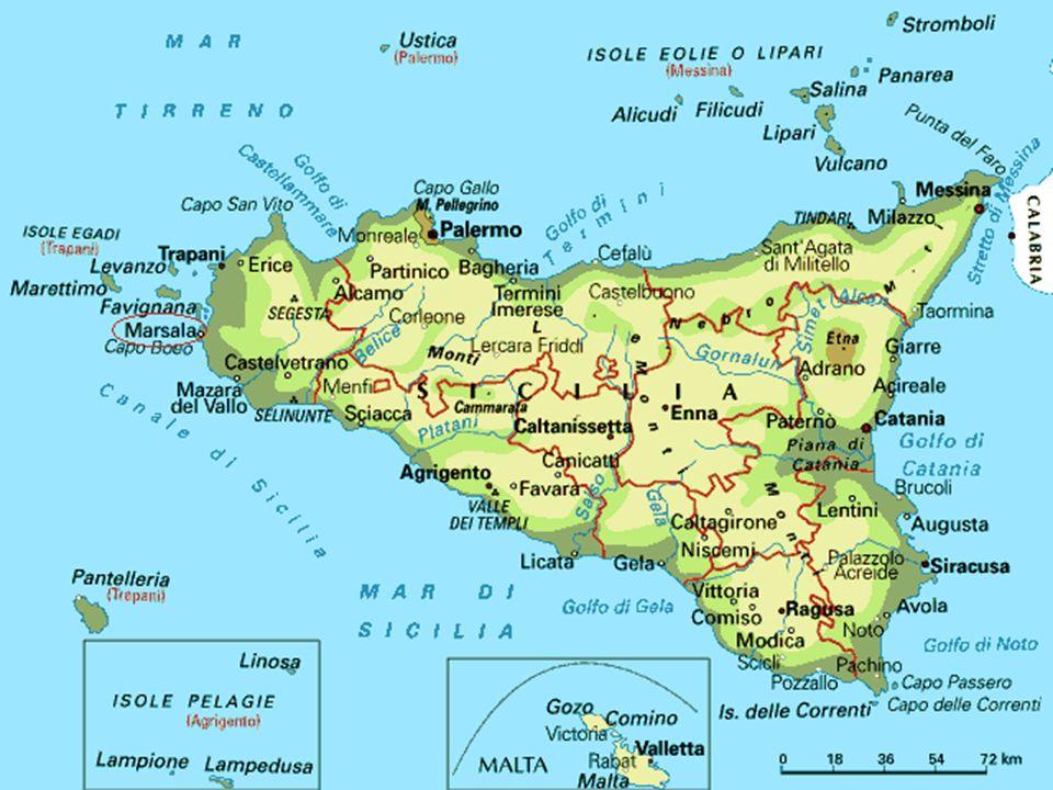 Il simbolo La Trinacria sta a rispecchiare i tre capi della Sicilia