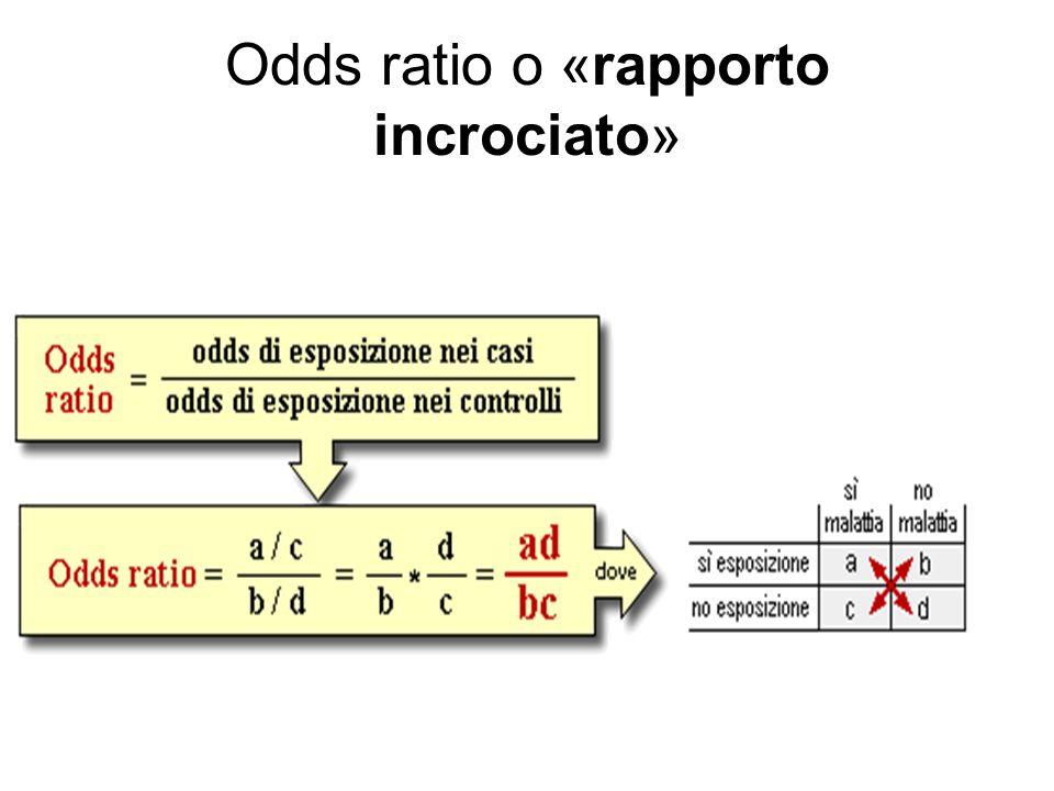 Odds ratio o «rapporto incrociato»