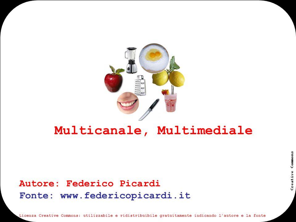 www.federicopicardi.it Creative Commons Multicanale Autore: Federico Picardi Fonte: www.federicopicardi.it Licenza Creative Commons: utilizzabile e ridistribuibile gratuitamente indicando lautore e la fonte
