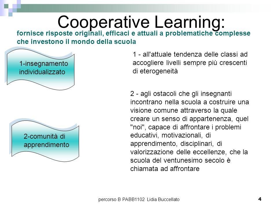 percorso B PABB1102 Lidia Buccellato4 1-insegnamento individualizzato fornisce risposte originali, efficaci e attuali a problematiche complesse che in