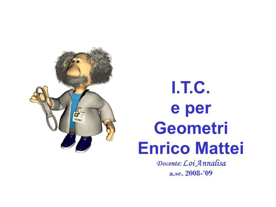 I.T.C. e per Geometri Enrico Mattei Docente: Loi Annalisa a.sc. 2008-09 dd