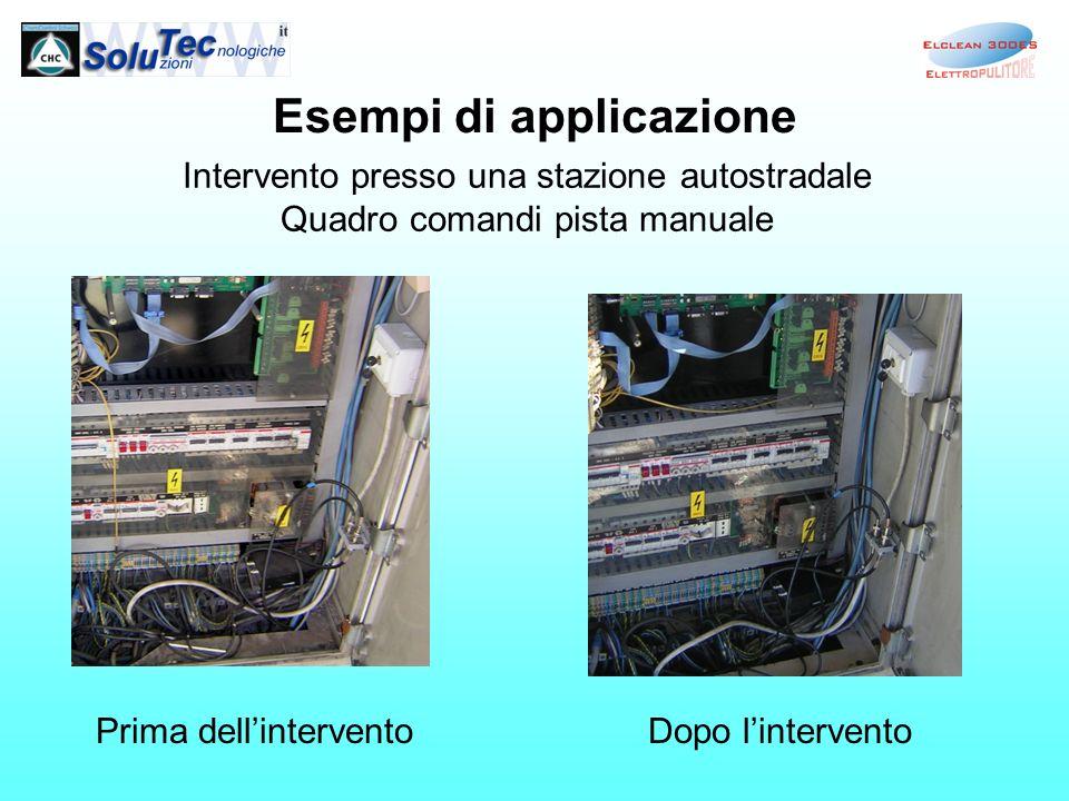Esempi di applicazione Intervento presso una stazione autostradale Quadro comandi pista manuale Prima dellinterventoDopo lintervento