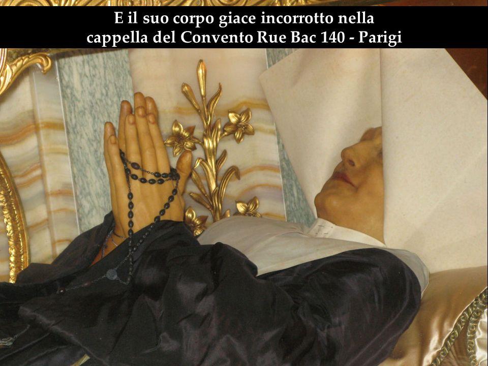 La religiosa che ha ricevuto questo messaggio è stato Santa Caterina Labouré.