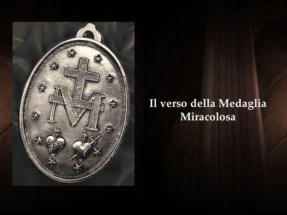 A ttorno alla medaglia alla sentenza recita: O Maria, concepita senza peccato, pregate per noi che ricorriamo a Voi M adonna aveva messo questa breve