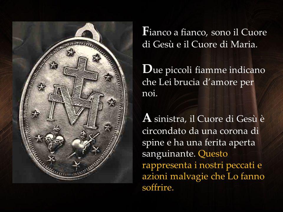 S ul verso della Medaglia Miracolosa la grande M che prendere su di sé una croce, è l'iniziale del nome di Maria. Ai piedi della Croce soffre Maria no