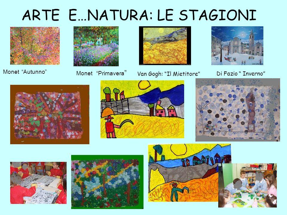 ARTE E…NATURA: LE STAGIONI Monet Autunno Monet Primavera Van Gogh: Il Mietitore Di Fazio Inverno