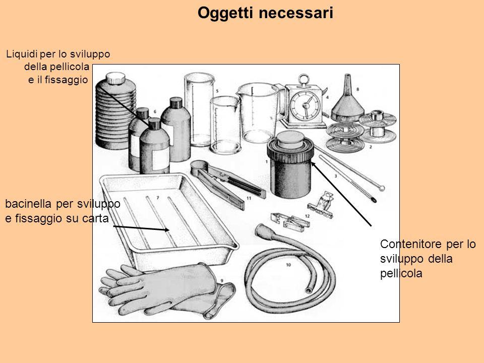Liquidi per lo sviluppo della pellicola e il fissaggio Contenitore per lo sviluppo della pellicola bacinella per sviluppo e fissaggio su carta Oggetti necessari