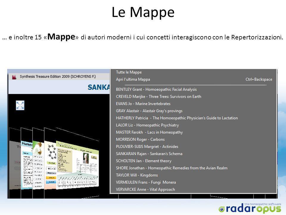 Le Mappe … e inoltre 15 « Mappe » di autori moderni i cui concetti interagiscono con le Repertorizzazioni.