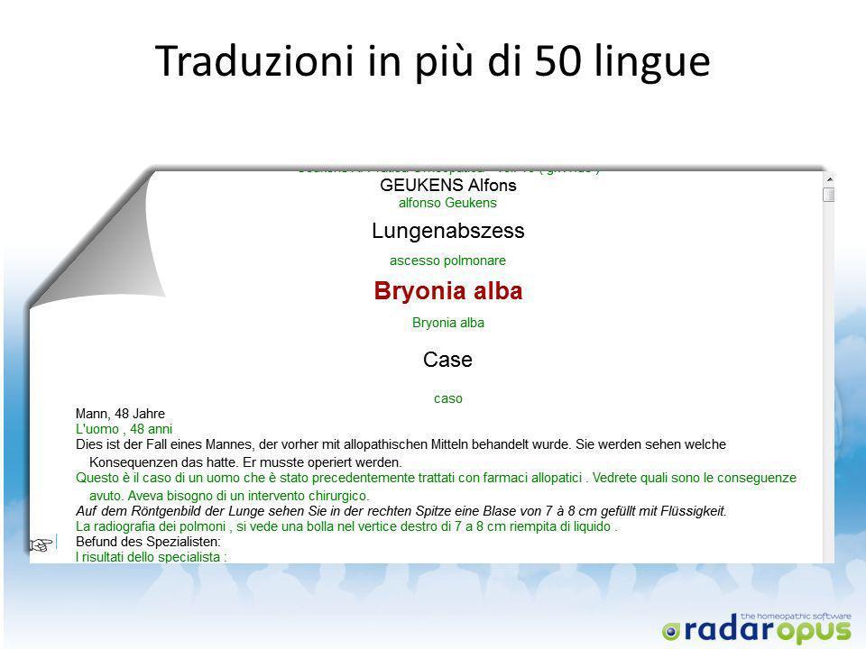 Traduzioni in più di 50 lingue