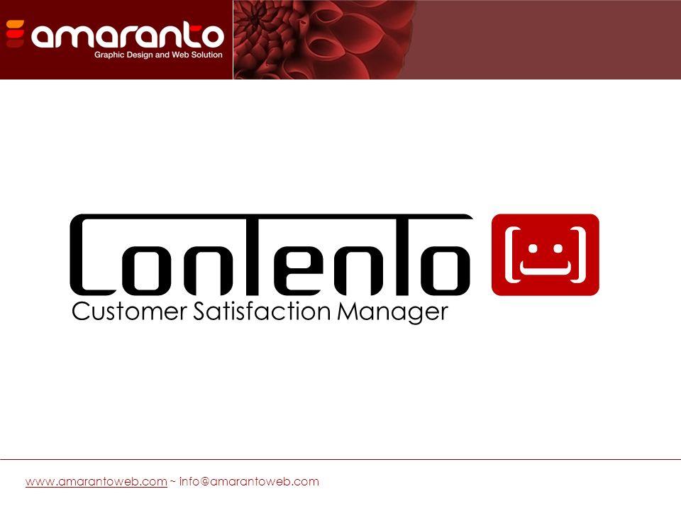 Contento è un software che permette di avviare in maniera veloce e flessibile una campagna di Customer Satisfaction interamente gestita on line, dalla selezione degli utenti fino alla generazione dei report per lanalisi dei dati.