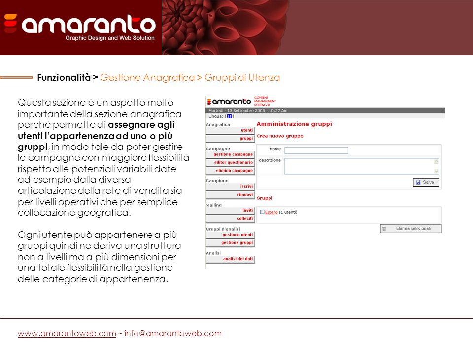 Una volta inserite allinterno del database (anche attraverso limportazione dal vostro gestionale) le informazione relative agli utenti è possibile elaborare il contenuto della campagna.
