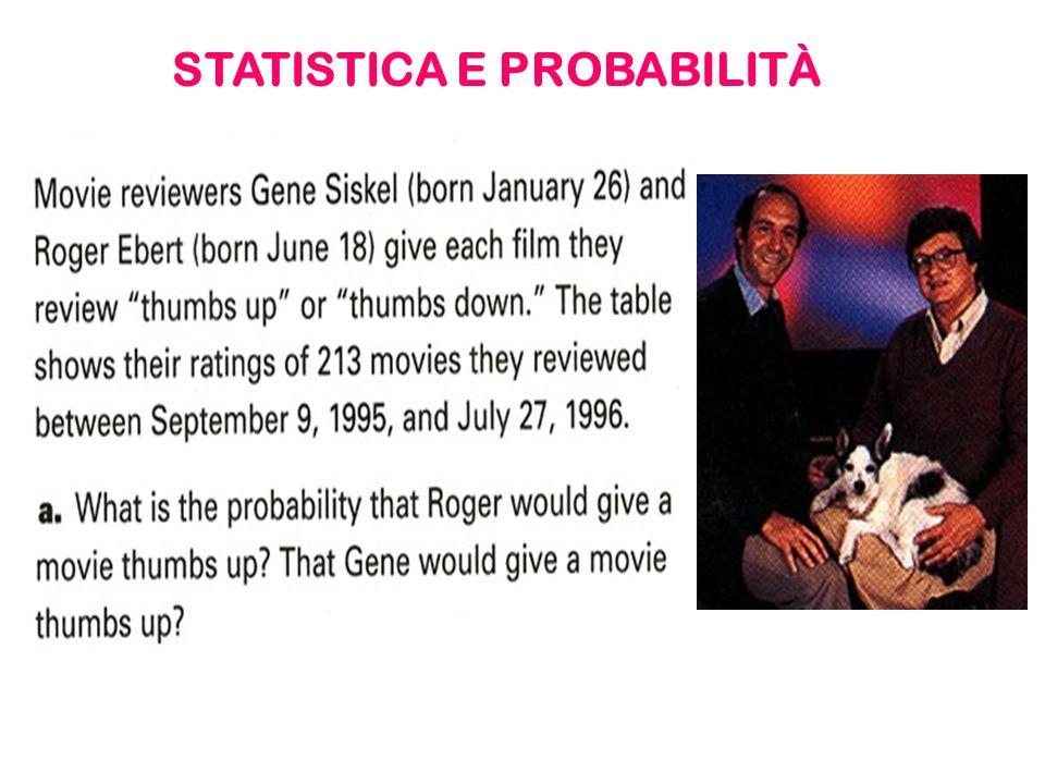 STATISTICA E PROBABILITÀ