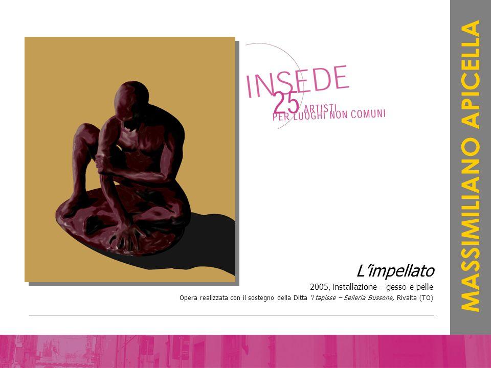 Limpellato 2005, installazione – gesso e pelle Opera realizzata con il sostegno della Ditta l tapisse – Selleria Bussone, Rivalta (TO) MASSIMILIANO AP