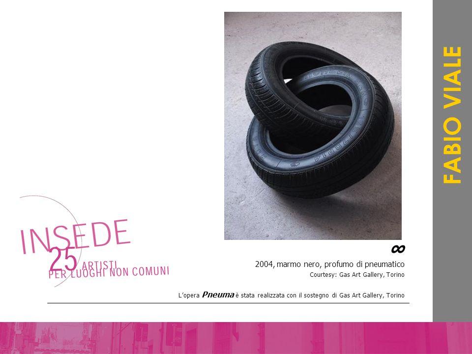 2004, marmo nero, profumo di pneumatico Courtesy: Gas Art Gallery, Torino Lopera Pneuma è stata realizzata con il sostegno di Gas Art Gallery, Torino