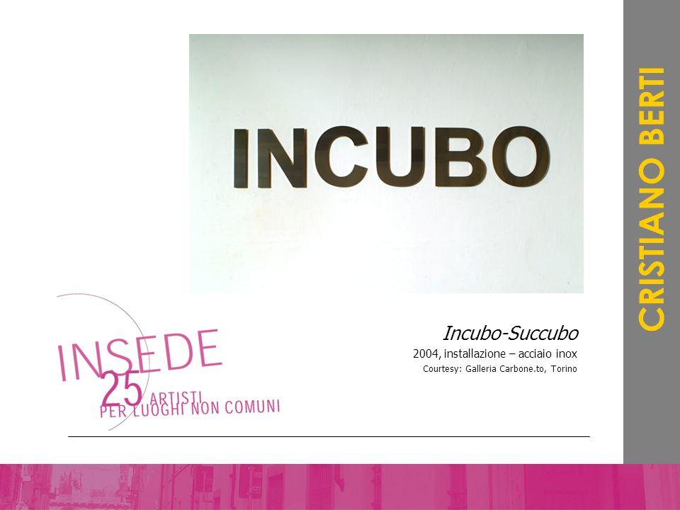 Incubo-Succubo 2004, installazione – acciaio inox Courtesy: Galleria Carbone.to, Torino CRISTIANO BERTI