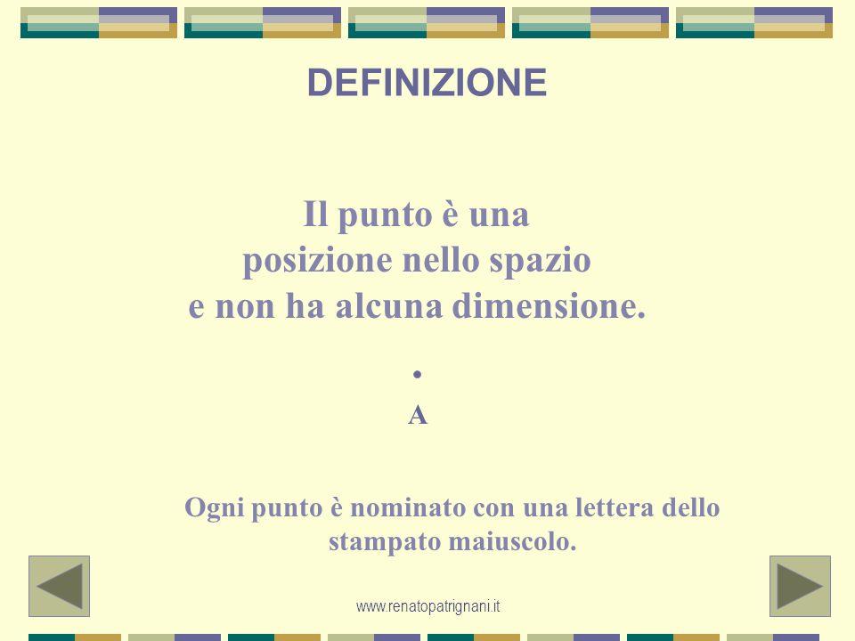 www.renatopatrignani.it LE LINEE La linea è un insieme di punti ravvicinati.