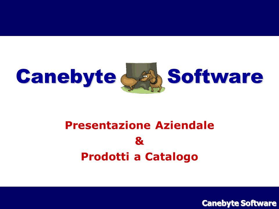 Indice :: Chi Siamo : storia e fatturato Mercati Target : a chi ci rivolgiamo Il Licensing dei software : dettagli sulle licenze Il catalogo prodotti : di quali software disponiamo Canebyte Software