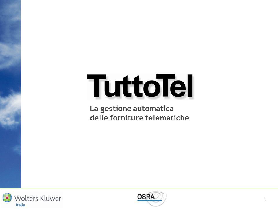 TuttoTel esegue automaticamente limportazione e il controllo della fornitura TuttoTel esegue automaticamente limportazione e il controllo della fornitura