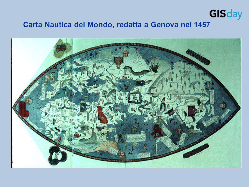 Carta Nautica del Mondo, redatta a Genova nel 1457