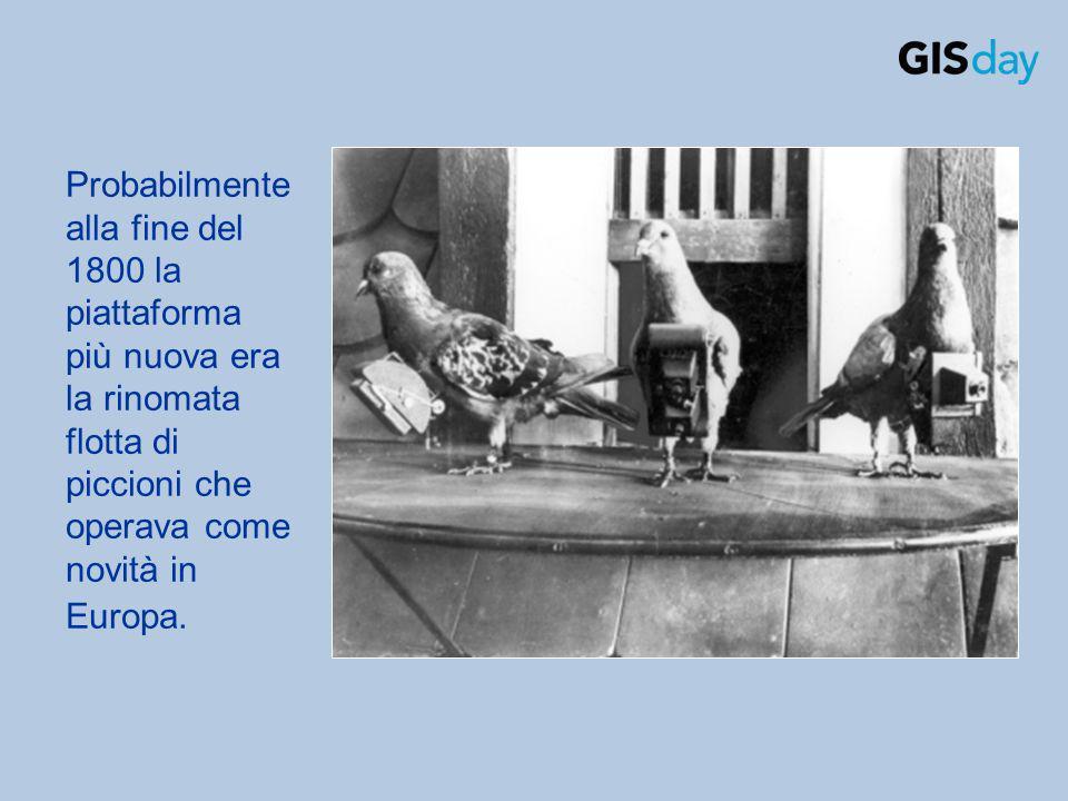 Probabilmente alla fine del 1800 la piattaforma più nuova era la rinomata flotta di piccioni che operava come novità in Europa.