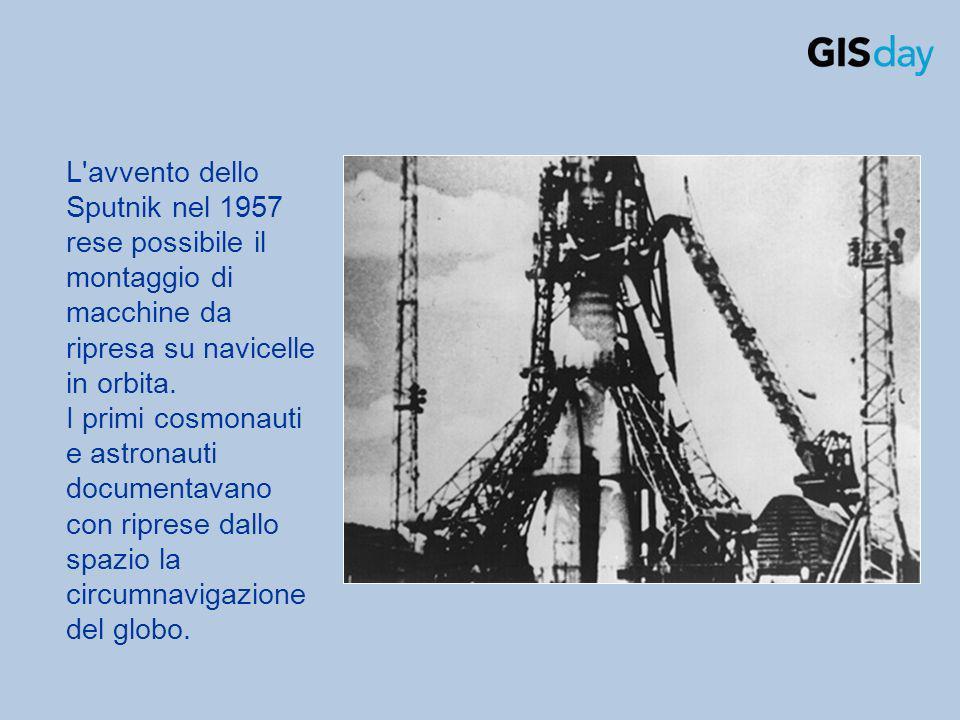 L'avvento dello Sputnik nel 1957 rese possibile il montaggio di macchine da ripresa su navicelle in orbita. I primi cosmonauti e astronauti documentav
