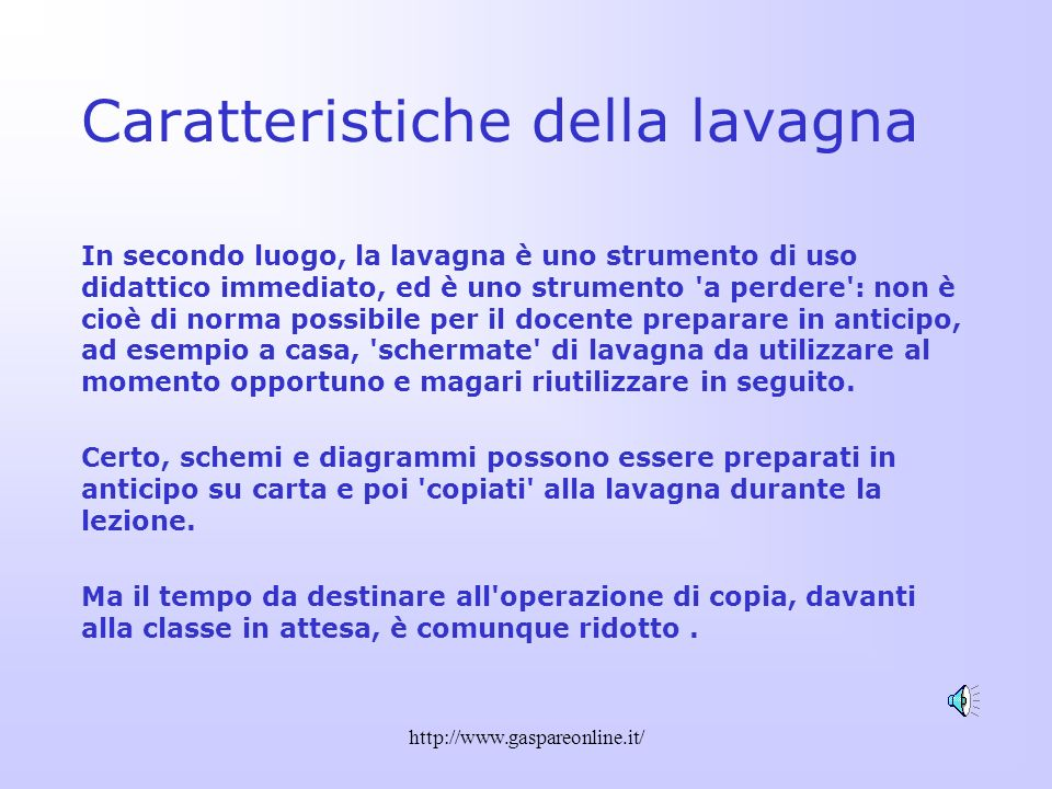 http://www.gaspareonline.it/ Una sola diapositiva…