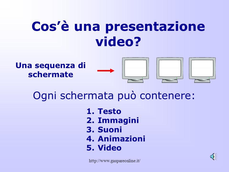 http://www.gaspareonline.it/ Sequenza Diapositive In alternativa al menu si può usare questo pulsante che trovate in basso a sinistra…