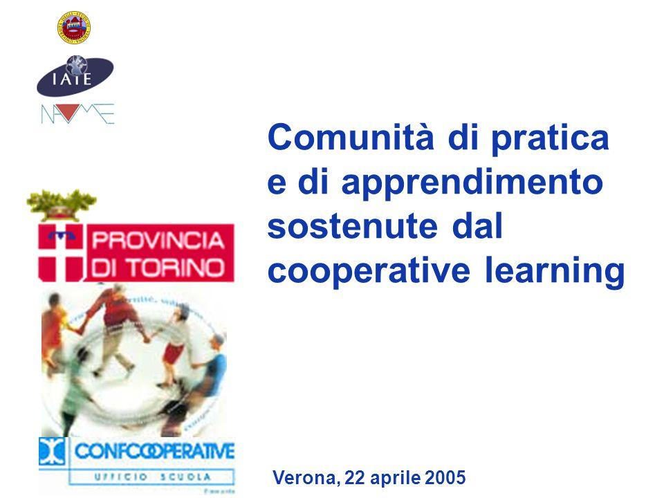 Comunità di pratica e di apprendimento sostenute dal cooperative learning Verona, 22 aprile 2005