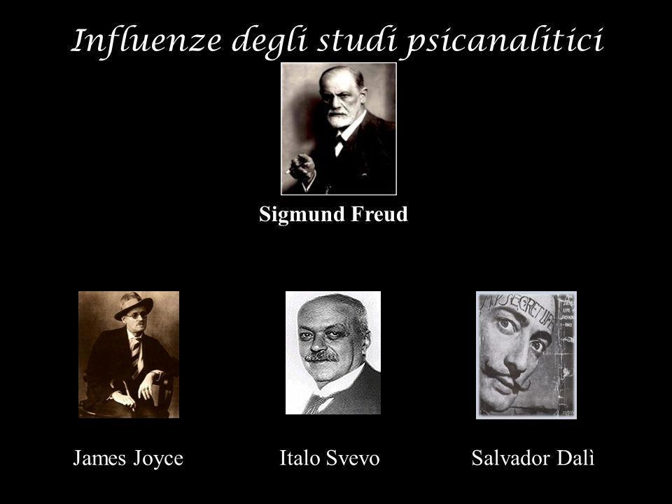 Influenze degli studi psicanalitici Sigmund Freud James Joyce Italo Svevo Salvador Dalì