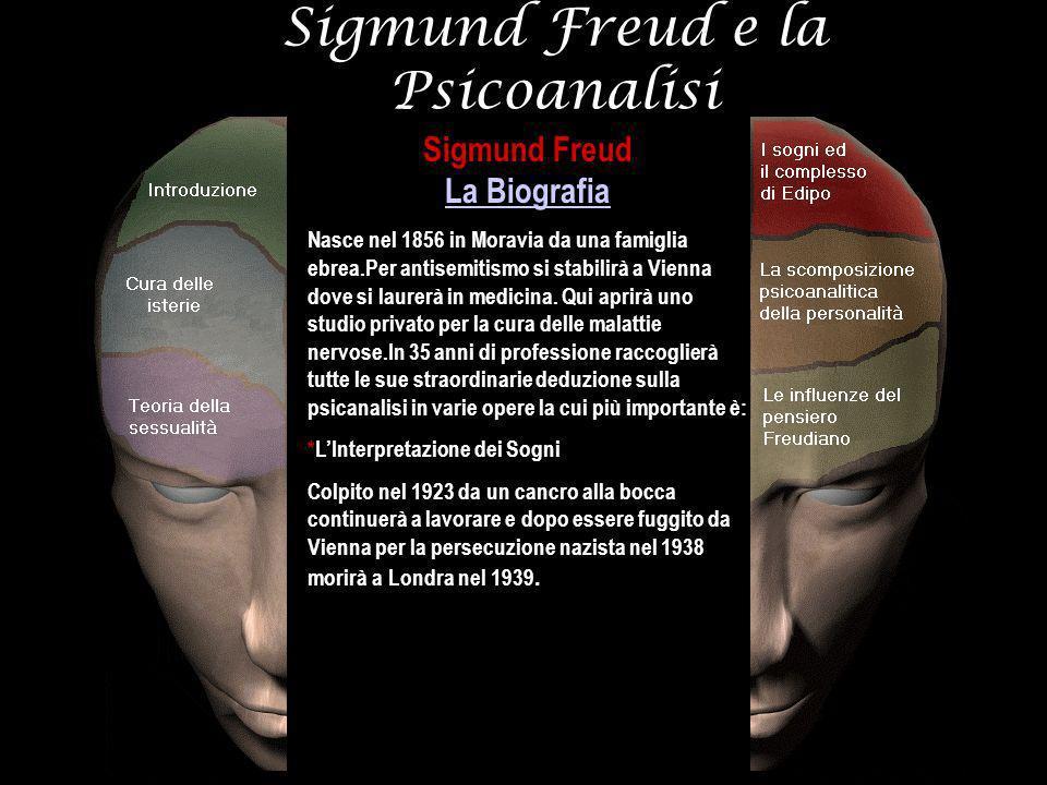 Sigmund Freud La Biografia La Biografia Nasce nel 1856 in Moravia da una famiglia ebrea.Per antisemitismo si stabilirà a Vienna dove si laurerà in med