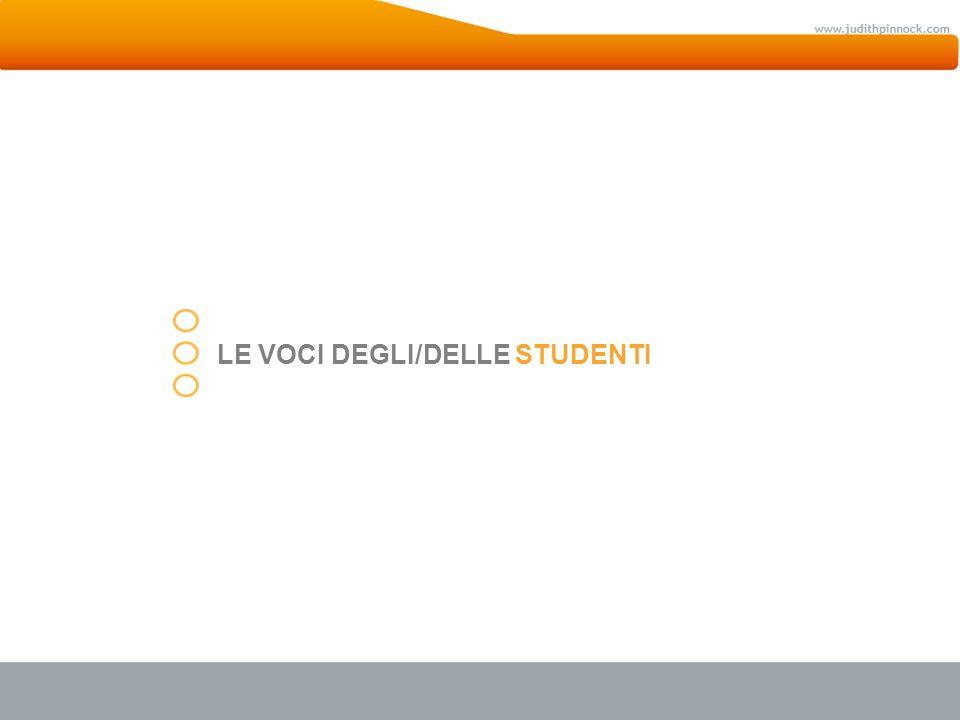 Titolo della sezioneLE VOCI DEGLI/DELLE STUDENTI