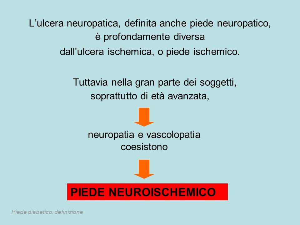 Lulcera neuropatica, definita anche piede neuropatico, è profondamente diversa dallulcera ischemica, o piede ischemico. Tuttavia nella gran parte dei