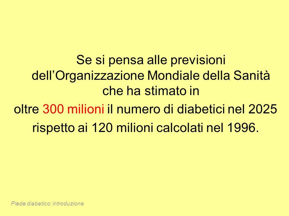 Se si pensa alle previsioni dellOrganizzazione Mondiale della Sanità che ha stimato in oltre 300 milioni il numero di diabetici nel 2025 rispetto ai 1