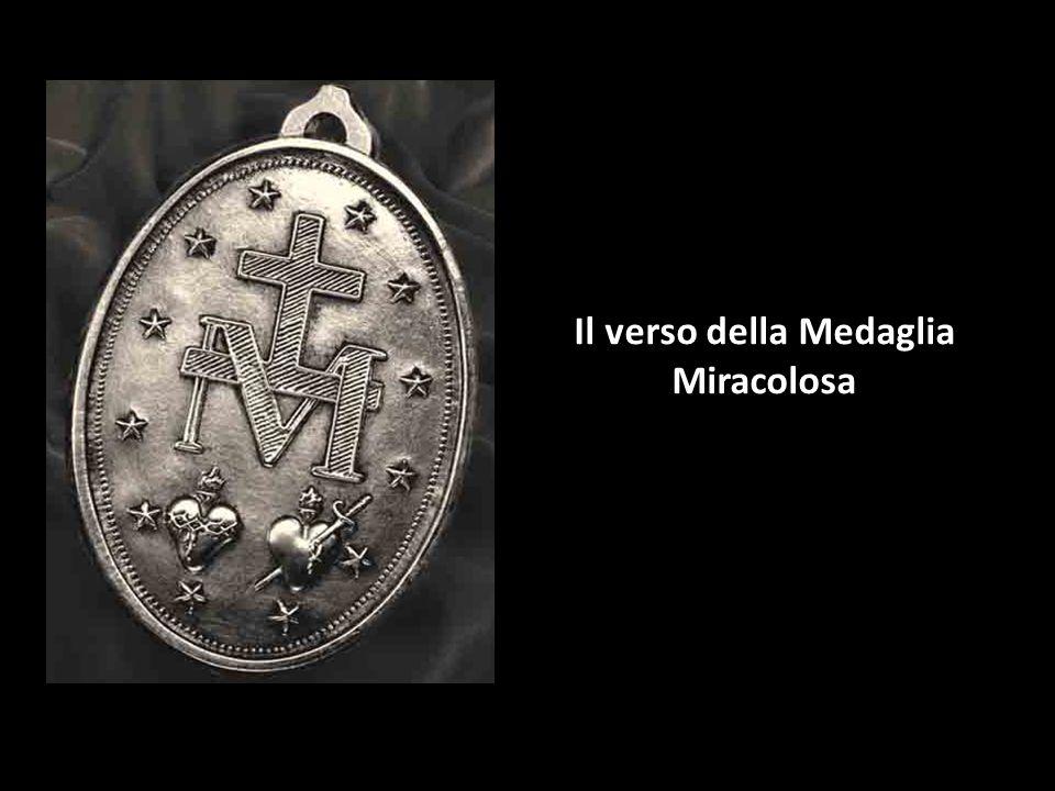 Attorno alla Medaglia si legge la frase: O Maria concepita senza peccato, prega per noi che ricorriamo a Te.