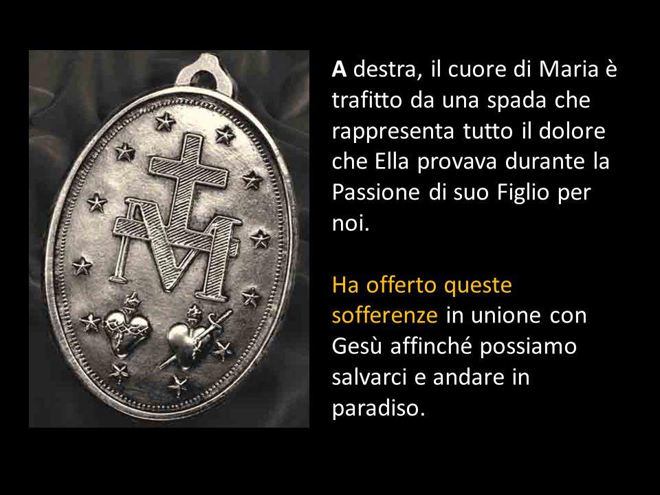 Fianco a fianco sono il Cuore di Gesù e il Cuore di Maria.