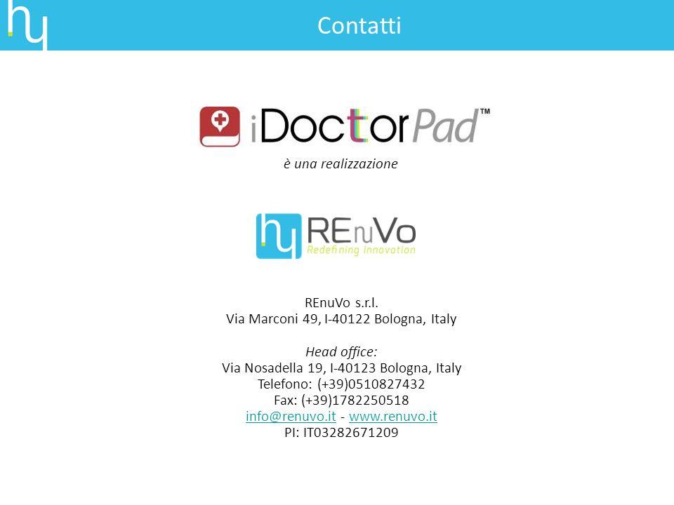 è una realizzazione REnuVo s.r.l. Via Marconi 49, I-40122 Bologna, Italy Head office: Via Nosadella 19, I-40123 Bologna, Italy Telefono: (+39)05108274