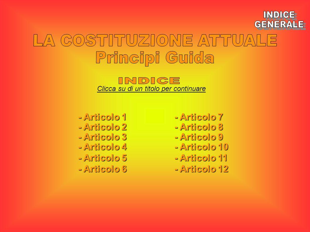 Clicca su di un titolo per continuare - Articolo 1 - Articolo 1 - Articolo 2 - Articolo 2 - Articolo 3 - Articolo 3 - Articolo 4 - Articolo 4 - Artico