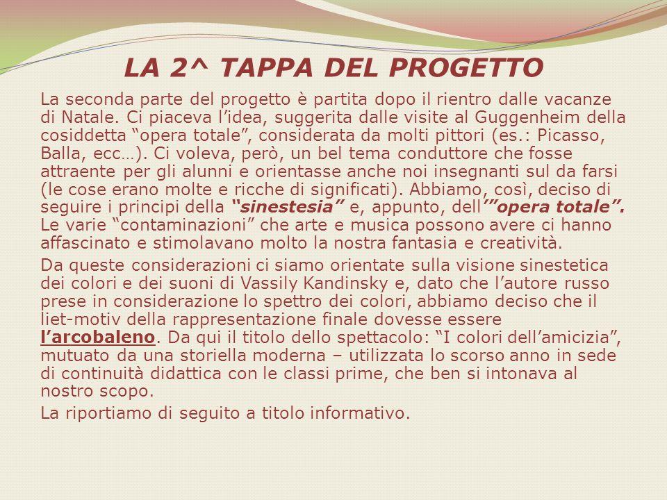 LA 2^ TAPPA DEL PROGETTO La seconda parte del progetto è partita dopo il rientro dalle vacanze di Natale. Ci piaceva lidea, suggerita dalle visite al