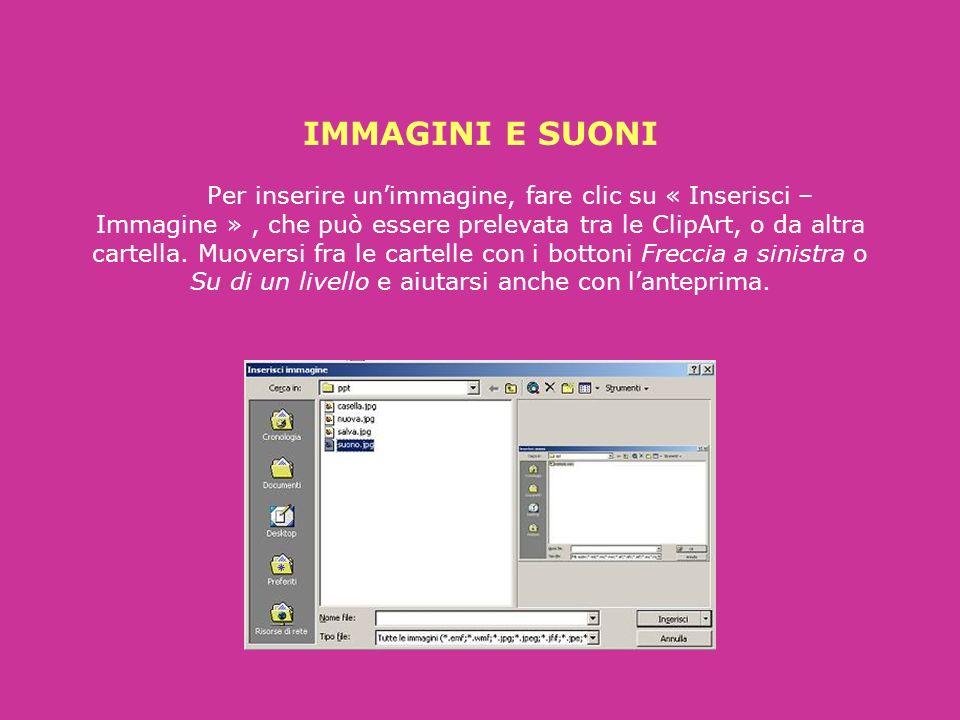 Se volete che il testo appaia a comando (un tasto, o un clic del mouse), potete impostarlo con « Presentazione - Animazione preimpostata ». Quando la
